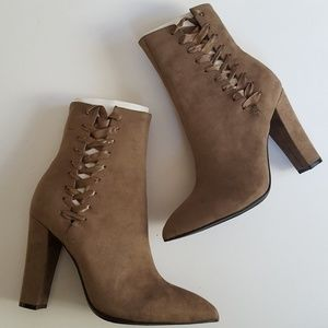 Lace up pointy booties size 9 new